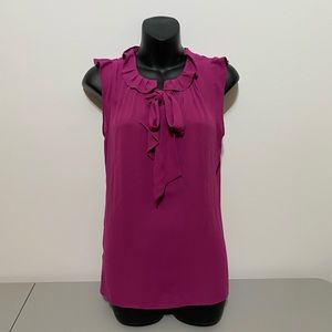 NWT Loft Sleeveless with Tie neckBlouse Size Small